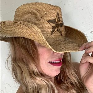 Peter Grimm straw cowgirl hat